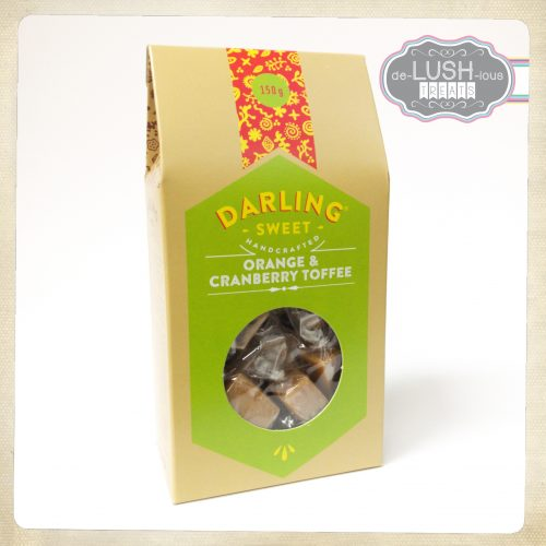 Darling Sweet Cranberry & Orange Toffee 150g